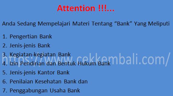 pengertian bank umum - Jenis Jenis Kantor Bank Di Indonesia