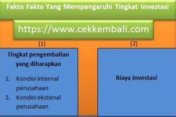 faktor tingkat investasi