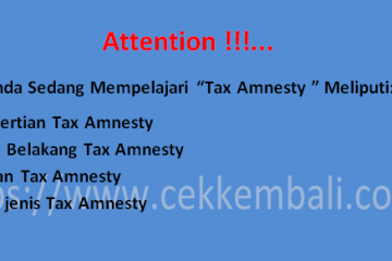 pengertian Tax amnesty