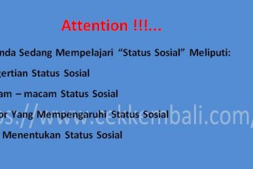 pengertian status sosial