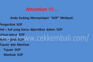 pengertian SOP (standard opertional procedure)