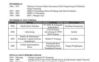 image of Contoh surat lamaran kerja   Daftar Riwayat Hidup (CV) 2017