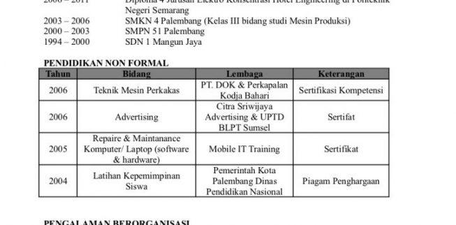 picture of Contoh surat lamaran kerja | Daftar Riwayat Hidup (CV) 2017